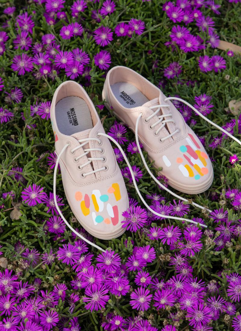 A Simple Iron On Sneaker DIY / via Oh Joy!