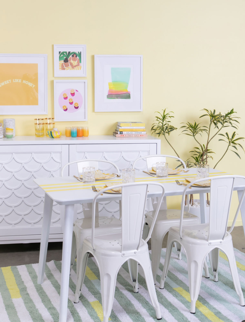 color adventures: a yellow dinning room... / via oh joy!