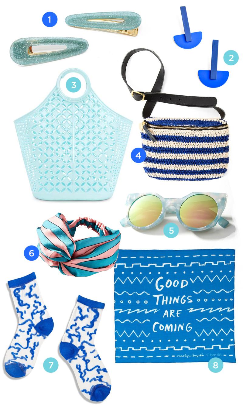 color adventures: blue accessories!