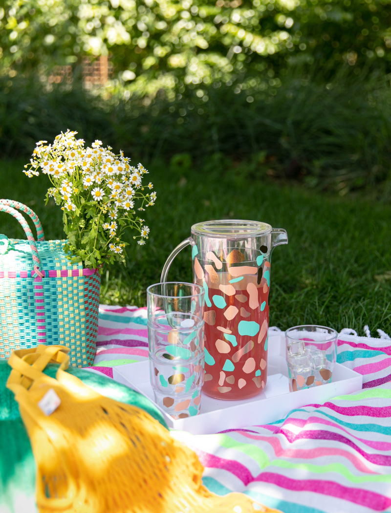 Matching Terrazzo Pitcher + Cups DIY / via Oh Joy!