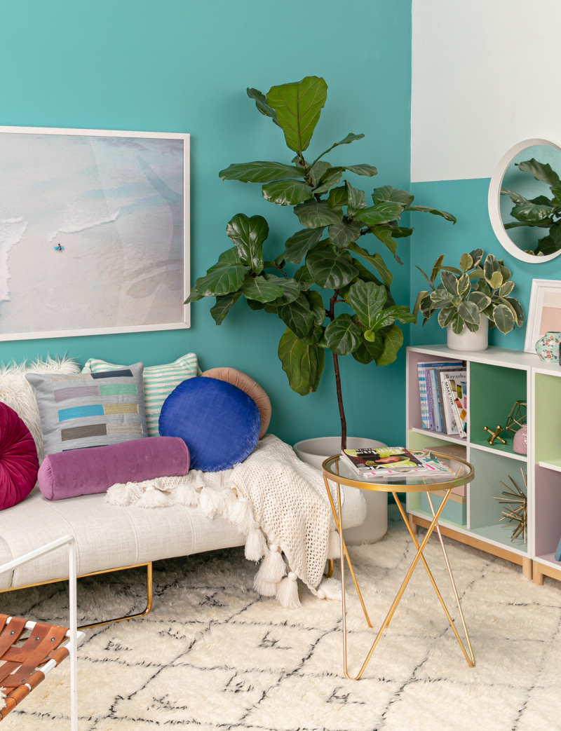 color adventures: a cool seating area...