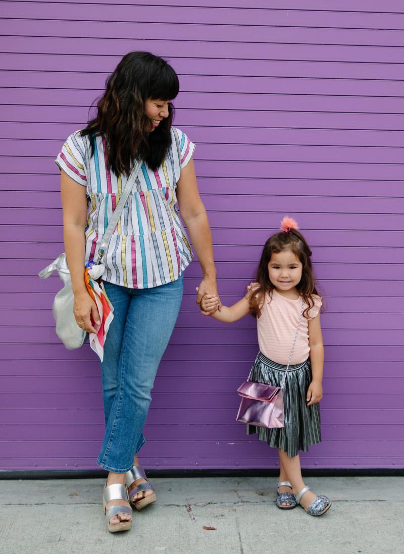 Metallic Mommy + Me Outfits / via Oh Joy!