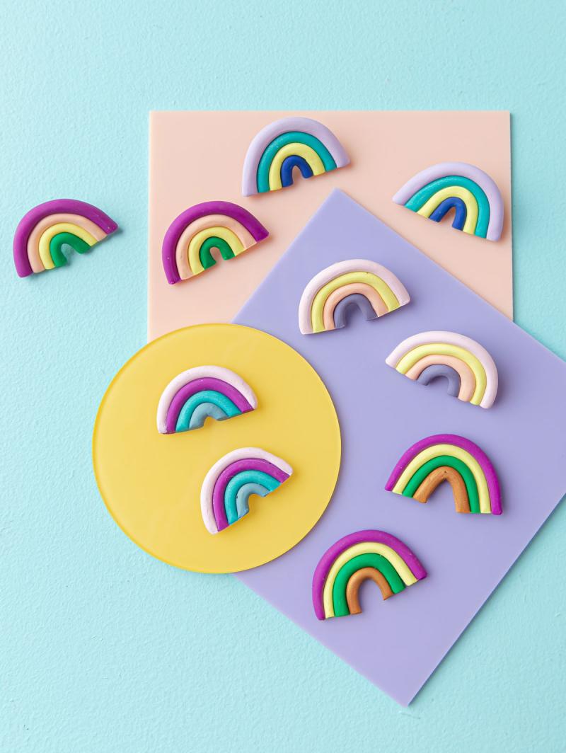 Rainbow Earring DIY... / via Oh Joy!