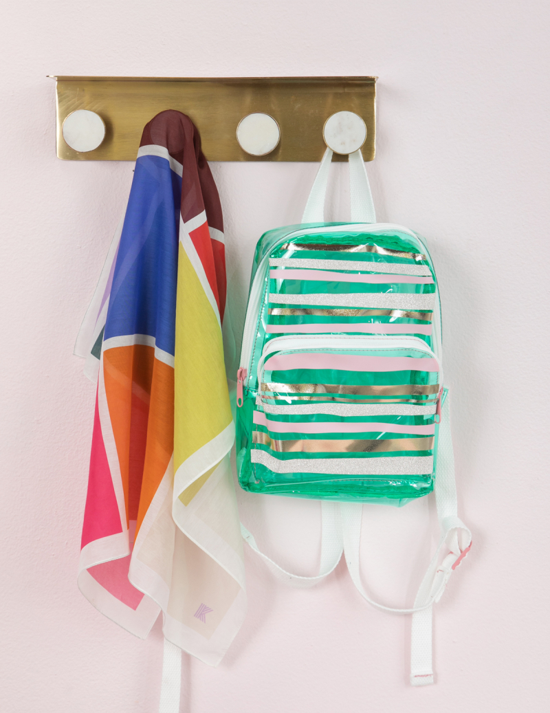 a cool vinyl backpack diy... / via oh joy!