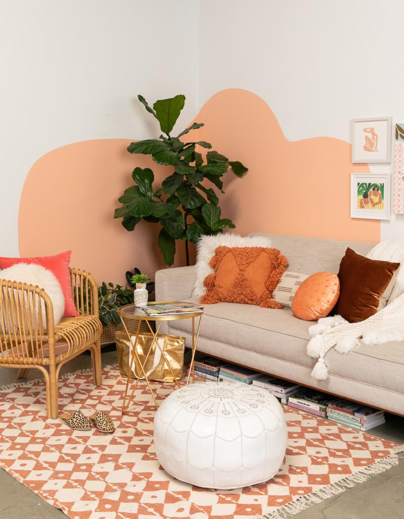 The Peachiest Living Room / via Oh Joy!
