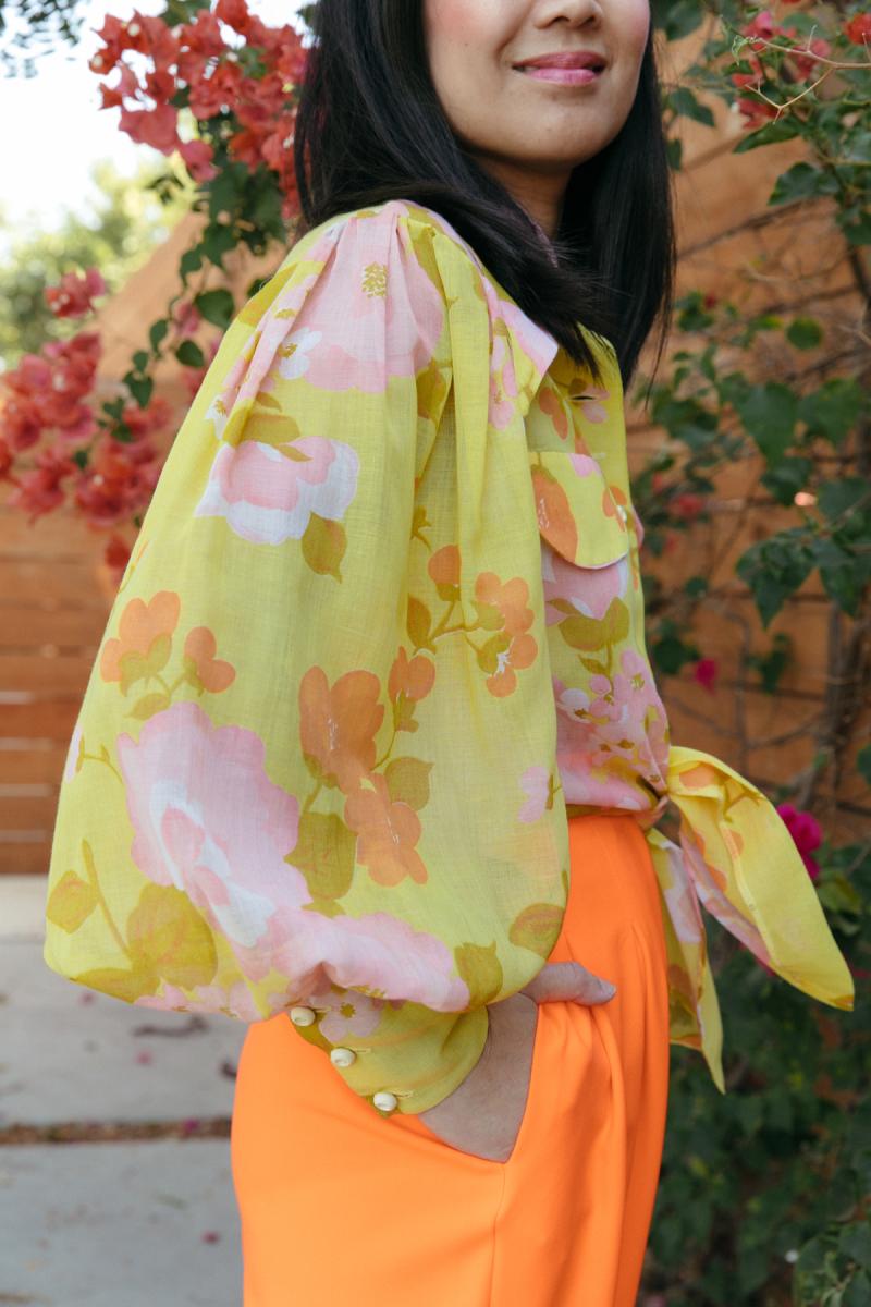 color adventures: oh joy wears orange!