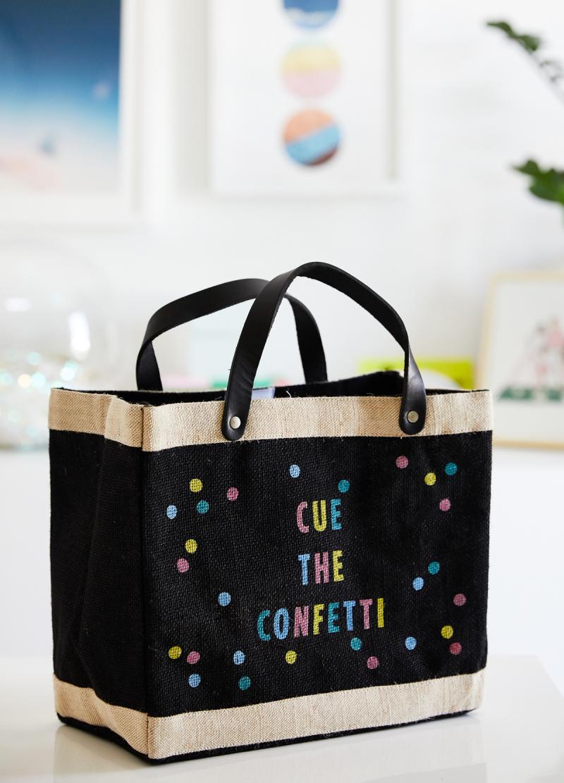 Cute the Confetti! /// Oh Joy! for Apolis Petite Market Bag in Black / Shop now!