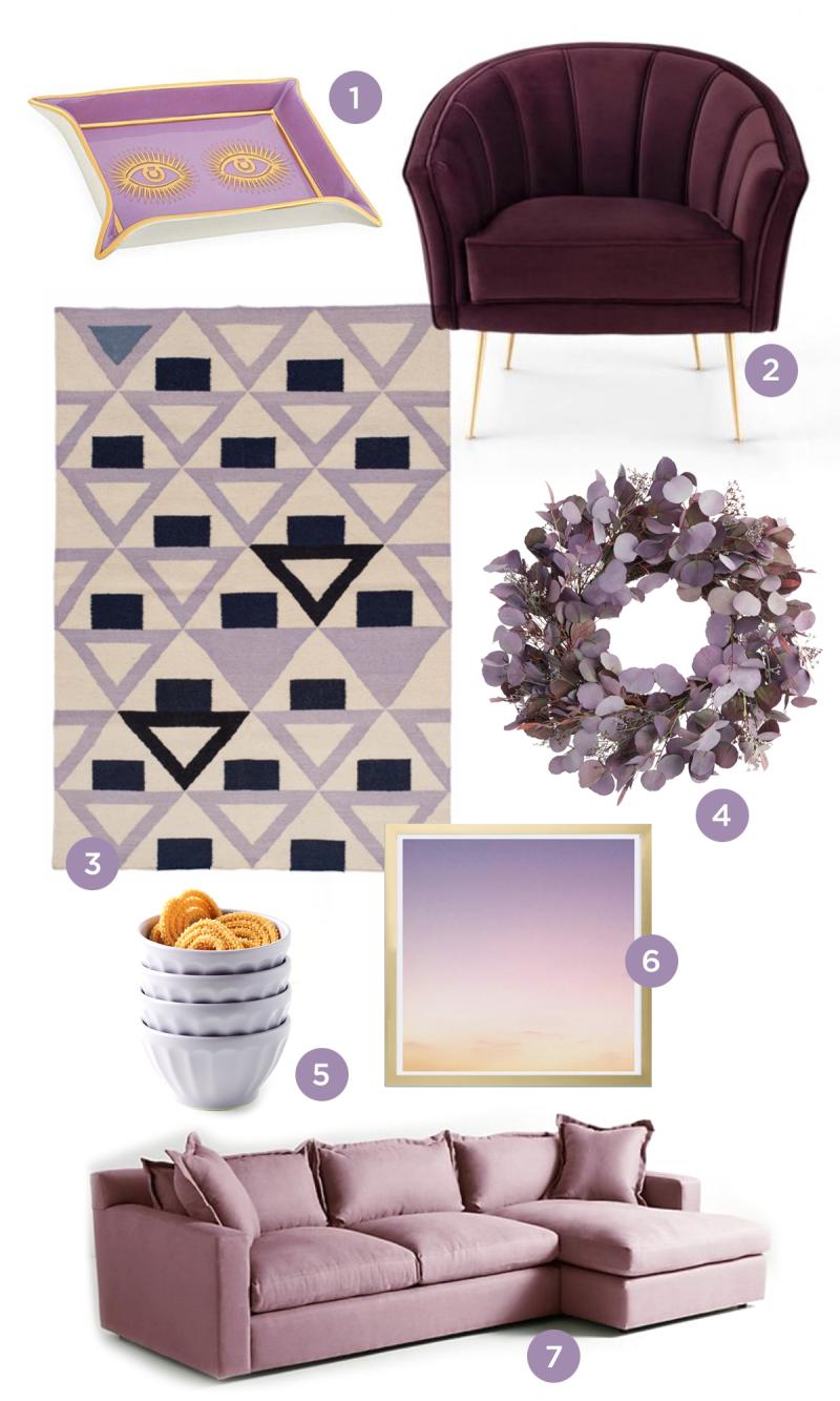 color adventures: purple home decor / OH JOY!