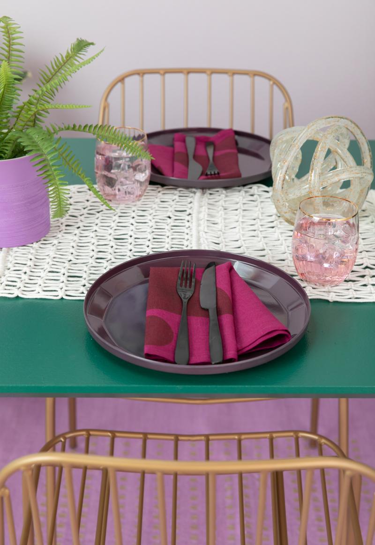 color adventures: a purple dining room! / via oh joy!