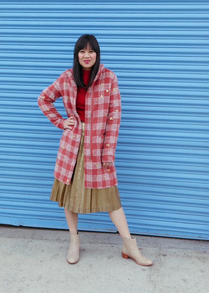 a super cozy bedazzled coat diy... / via oh joy!