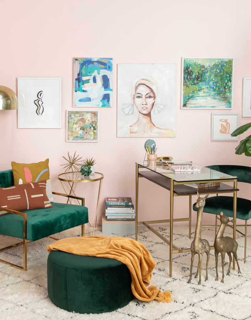 color adventures: a green abstract office... / via oh joy!
