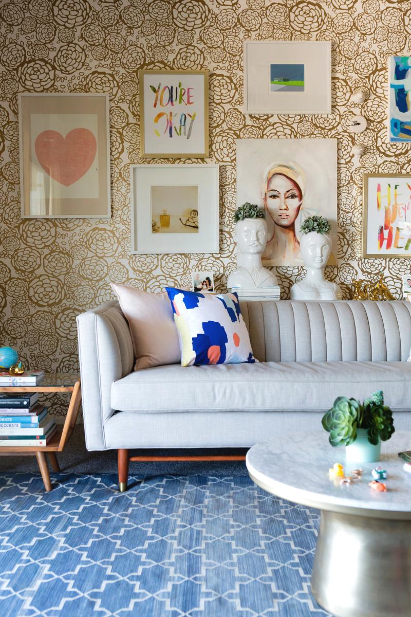 Oh Joy! Living Room - Photo by Monica Wang