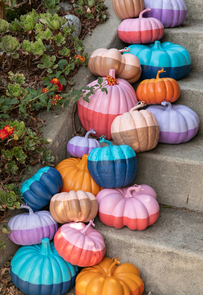 Oh Joy Color Blocked Pumpkins